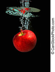 μήλο , αλίσκομαι , εντός , νερό