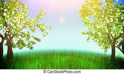 μήλο , δέντρα