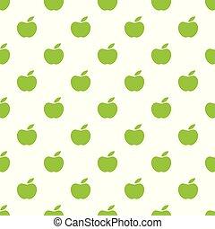 μήλο , πρότυπο , seamless, apples., φόντο. , μικροβιοφορέας , πράσινο
