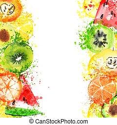 μήλο , bannner, βουτιά , τρόπος ζωής , αβοκάντο , φρούτο , ...