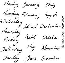 μήνες , ημέρες