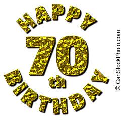 μήνυμα , γενέθλια , 70th, χρυσός , ευτυχισμένος