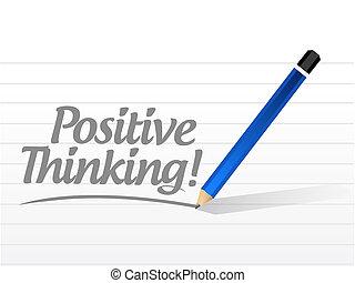 μήνυμα , σκεπτόμενος , εικόνα , θετικός
