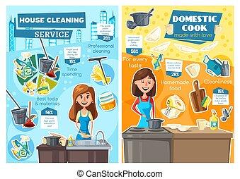 μαγείρεμα , πλύση , υπηρεσία , dishes., νοικοκυριό , γυναίκεs