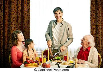 μαζί , εορταστικός , τραπέζι