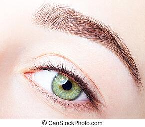 μακιγιάζ , μάτι , γυναίκα , άκρη , ζώνη , ημέρα