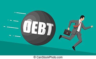 μακριά , βάροs , μεγάλος , χρέος , τρέξιμο , επιχειρηματίας