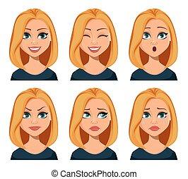 μαλλιά , εκφράσεις , γυναίκα , ξανθή , ζεσεεδ
