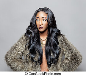 μαλλιά , κομψός , μαύρο , κατσαρός , ομορφιά