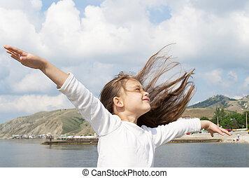 μαλλιά , κορίτσι , ρεύση