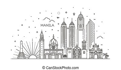 μανίλα , μικροβιοφορέας , skyline., φιλιππίνες , πόλη