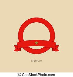 μαρόκο , σημαία , κύκλοs , ταινία