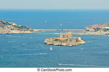 μασσαλία , μεγάλο εξοχικό σπίτι , d'if , γαλλία