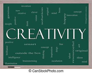 μαυροπίνακας , γενική ιδέα , λέξη , σύνεφο , δημιουργικότητα