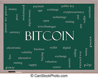 μαυροπίνακας , γενική ιδέα , λέξη , bitcoin, σύνεφο