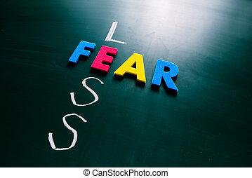 μαυροπίνακας , φόβος , γενική ιδέα , λιγότερος