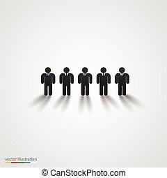 μαύρο , άνθρωποι , περίγραμμα , row., ζεύγος ζώων , γενική ιδέα