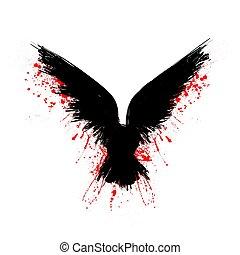 μαύρο , αίμα , κοράκι