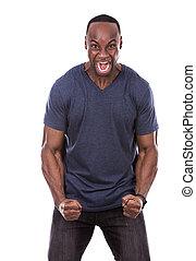 μαύρο ανήρ , θυμωμένος