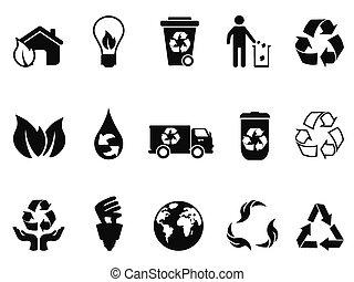 μαύρο , ανακύκλωση , απεικόνιση , θέτω