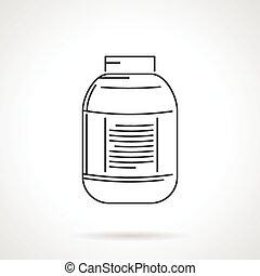 μαύρο , βάζο , εικόνα , μικροβιοφορέας , γραμμή