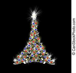 μαύρο , δέντρο , xριστούγεννα , φόντο