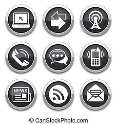 μαύρο , επικοινωνία , κουμπιά
