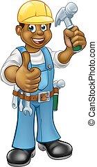 μαύρο , εργάτης κατάλληλος για διάφορες εργασίες , ξυλουργόs