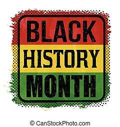 μαύρο , ιστορία , μήνας , σήμα , ή , γραμματόσημο