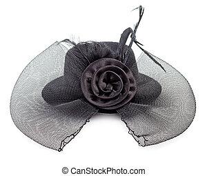 μαύρο καπέλο , απομονωμένος