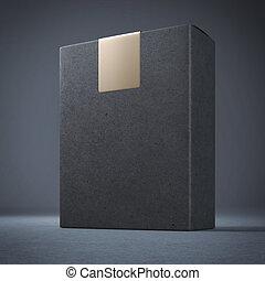 μαύρο , κουτί , ανώτατος , giolden, αυτοκόλλητη ετικέτα