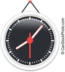 μαύρο , μικροβιοφορέας , ρολόϊ τοίχου