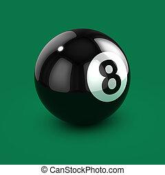 μαύρο μπάλα , οκτώ , 3d