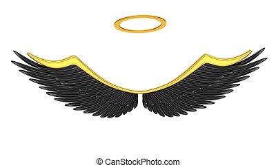 μαύρο , παρασκήνια , άγγελος