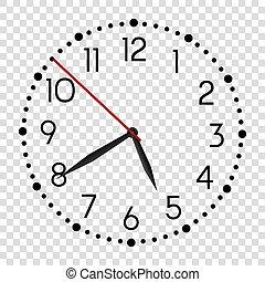 μαύρο , clock., ρεαλιστικός , παρακολουθώ , τοίχοs , τρομάζω , μικροβιοφορέας , γραφείο , στρογγυλός , μοντέρνος , μετρών την ώραν , face.