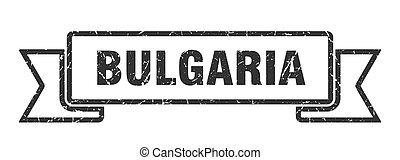 μαύρο , ribbon., σήμα , grunge , oρχήστρα , βουλγαρία