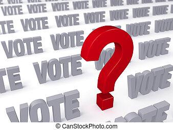 μεγάλος , για , ψηφοφορία , ερώτηση