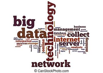 μεγάλος , δεδομένα , λέξη , σύνεφο