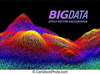 μεγάλος , δεδομένα , concept., αφαιρώ , μικροβιοφορέας , φόντο