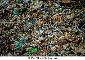 μεγάλος , συσσωρεύω , από , σκουπίδια