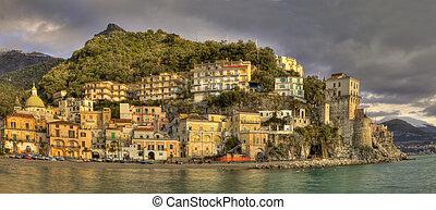 μεγάλος , τοπίο , χωριό , από , cetara , (sa), ιταλία