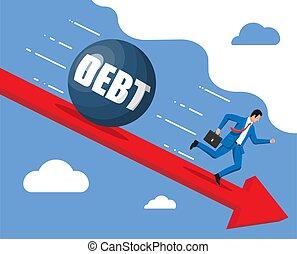 μεγάλος , τρέξιμο , βάροs , μακριά , χρέος , επιχειρηματίας