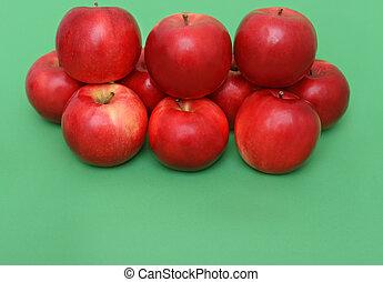 μεγάλος , piramid, αγίνωτος μήλο , φόντο , κόκκινο