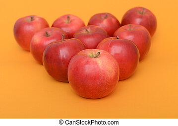μεγάλος , piramid, μήλο , φόντο , πορτοκάλι , κόκκινο