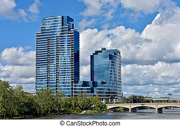 μεγαλειώδης , καταρράκτης , michigan , ουρανοξύστης