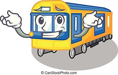 μειδιώ ειρωνικά , σχήμα , τρένο , υπόγεια διάβαση , άθυρμα , γουρλίτικο ζώο