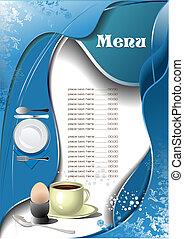μενού , (cafe), εστιατόριο