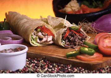 μεξικάνικος , burrito
