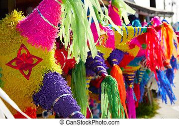 μεξικάνικος , pinatas , γραφικός , λεπτό χαρτί , πάρτυ