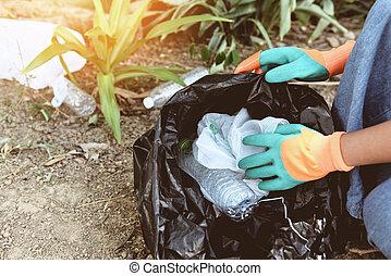 μερίδα φαγητού , εθελοντές , βοήθεια , σκουπίδια , φύση , πάρκο , - , ανακύκλωση , άνθρωποι , πάνω , διατηρώ , περιβάλλον , μείωση , καθαρός , συλλογή , σπατάλη , μέθοδος